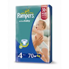 Подгузники Pampers Active baby Maxi 7-14 кг 70 шт